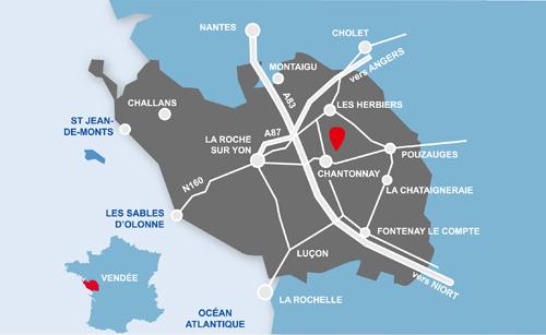 Localisation d'un gite en Vendée