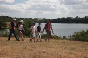 randonnée bord du lac de rochereau